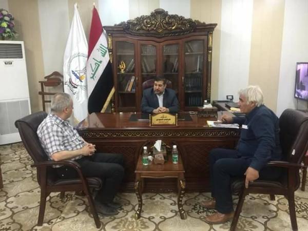 الاجودي يلتقي مدير قصر الثقافة والفنون في البصرة