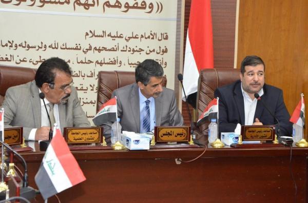 نائب محافظ البصرة الدكتور ضرغام الاجودي يشارك فى اجتماع مشترك مع رئاسة جامعة البصرة