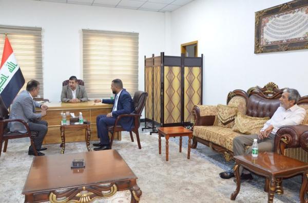 الدكتور ضرغام الاجودي يستقبل الأستاذ مهدي التميمي مدير مكتب المفوضية العليا لحقوق الانسان في البصرة