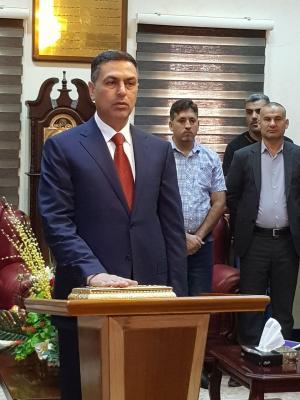 العيداني يؤدي اليمين الدستوري ويشغل منصب محافظ البصرة رسمياً