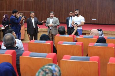""""""" الأجودي"""" في وداع الوجبة الرابعة ضمن مشروع علاج الأمراض المستعصية خارج العراق"""