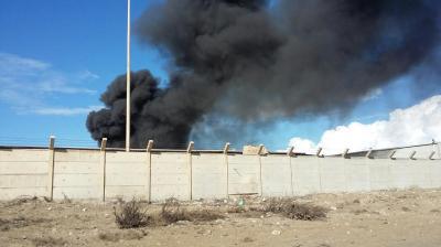 حريق يوقف ضخ مياه الإسالة بمشروع ماء شمال البصرة