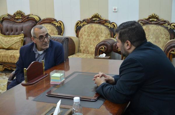 الاجودي يلتقي بمدير مؤسسة الامام الخميني للإغاثة الانسانية في البصرة
