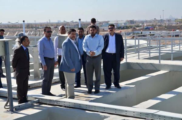 الاجودي : يعلن إكمال المرحلة الأولى من مشروع ماء شط العرب المركزي شرق البصرة