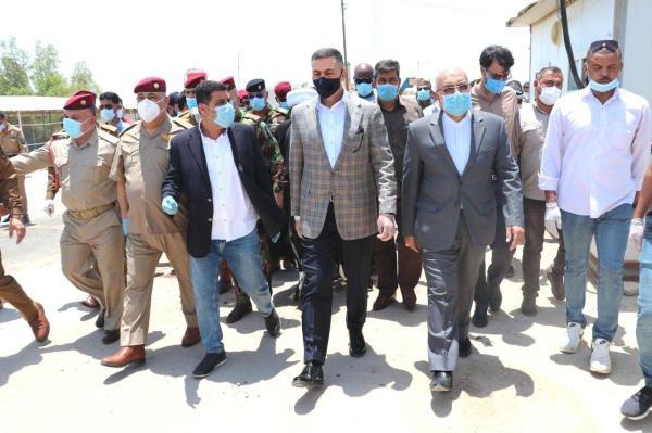 محافظ البصرة يعلن إعادة افتتاح منفذ الشلامجة الحدودي للتبادل التجاري