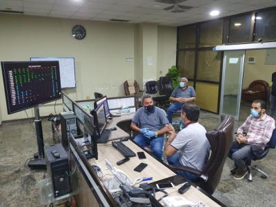 النائب الاول لمحافظ البصرة يتفقد مركز السيطرة الجنوبي لمتابعة ساعات تجهيز الكهرباء للمواطنين ووضع المنظومة الكهربائية