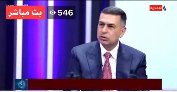 محافظ البصرة المهندس أسعد العيداني في لقاء متلفز  على قناة العراقية الإخبارية