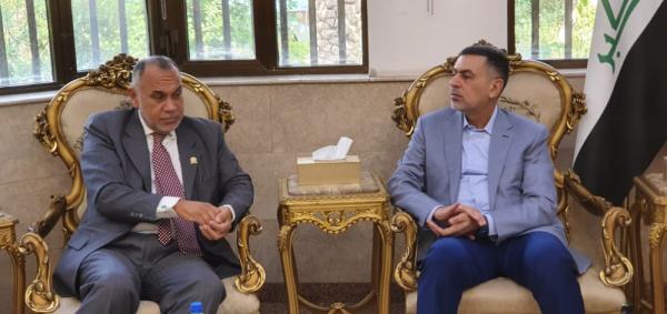 العيداني : بحثنا مع السفير الفنزويلي اطر الاستفادة من تجاربهم في المجالين الزراعي والنفطي