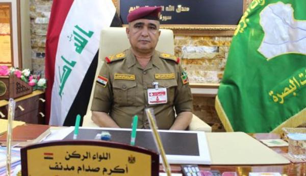 رسالة قائد عمليات البصرة اللواء الركن أكرم صدام مدنف إلى جميع الأجهزة الأمنية العاملة ضمن قاطع عمليات البصرة