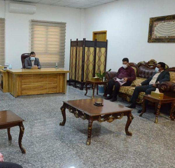 الاجودي يترأس أجتماع بخصوص مشروع مركز أمراض الدم الوراثية في البصرة