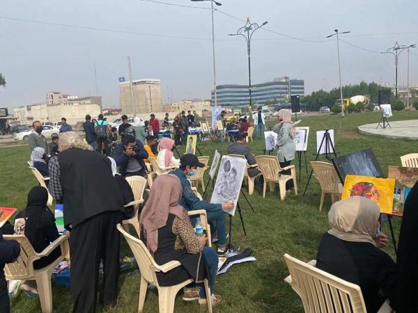 برعاية الاجودي انطلاق مهرجان الرسم الحر ال 22 في البصرة