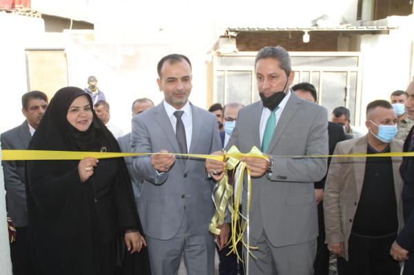 النائب الاول يفتتح مشاريع للقطاع التربوي في قضاء الهارثة شمال البصرة