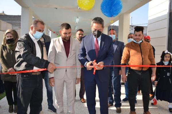 النائب الاول لمحافظ البصرة يفتتح مدرسة عرفات الابتدائية في منطقة خمسة ميل