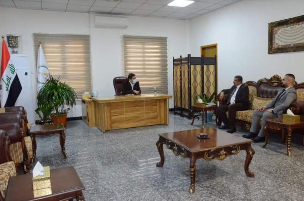 الاجودي: يلتقي الأستاذ أحمد عبد الوهاب الراضي رئيس لجنة المعارض في اتحاد الناشرين العراقيين