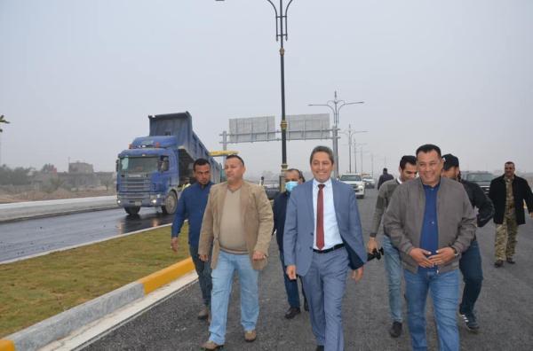 المهندس التميمي يعلن افتتاح الطريق الدولي الرابط بين جسر الشهيد الصدر وطريق الصالحية خلال الايام المقبلة