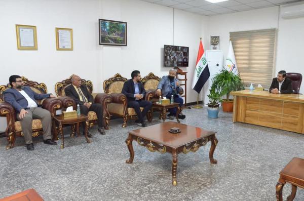 الأجودي : يلتقي رئيس أتحاد الأدباء في البصرة الدكتور سلمان كاصد وأعضاء الهيئة الأدارية لاتحاد الناشرين في العراق