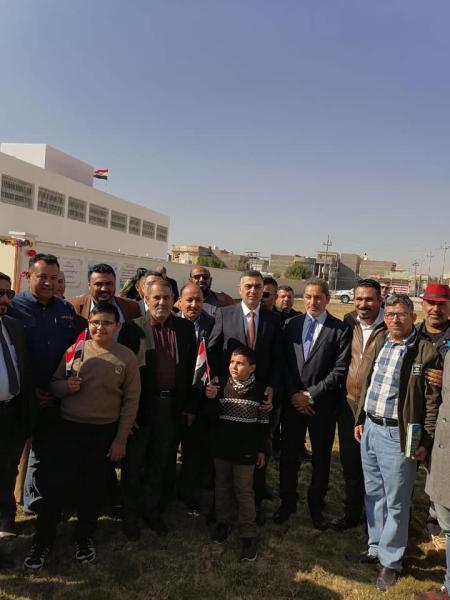 الحكومة المحلية في البصرة تفتتح مدرسة متوسطة في حي الغدير
