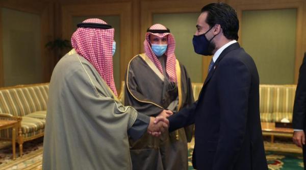 الحلبوسي وولي العهد الكويتي يبحثان تفعيل التجارة بين البلدين