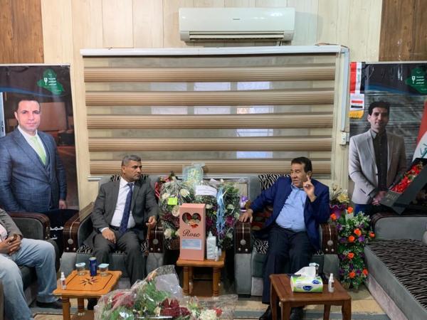 """""""الحسن"""" يبارك لرئيس وأعضاء الهيئة الإدارية الجديدة لنقابة الصحفيين"""