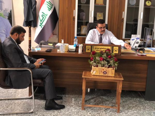 """"""" العيداني"""" يلتقي مدير تربية البصرة.. ويواصل استقباله للشرائح البصرية الكريمة"""