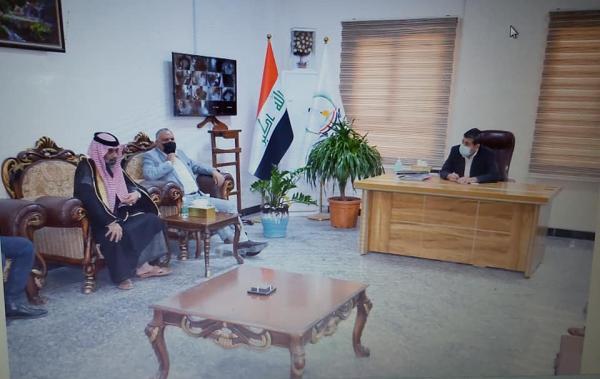 نائب محافظ البصرة الدكتور ضرغام الاجودي يلتقي وفد من أهالي قضاء ابي الخصيب