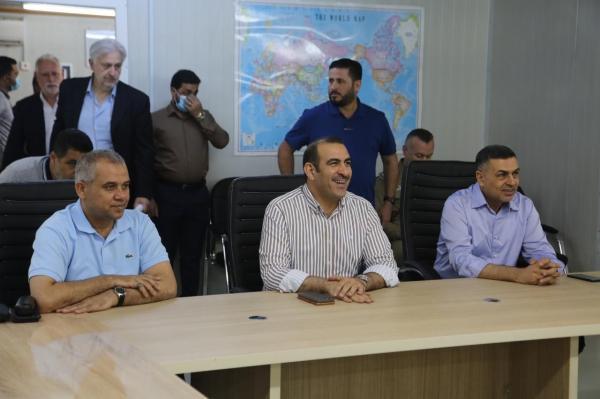 النقل تستقبل وزيري التخطيط والموارد المائية ومحافظ البصرة في ميناء الفاو الكبير..