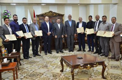 الدكتور ضرغام الاجودي: يلتقي فريق إدارة الجودة