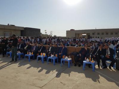 برعاية الدكتور ضرغام عارف الاجودي نائب محافظ البصرة أقامة ثانوية الأحرار في ناحية الدير (مهرجان التفوق الأول )