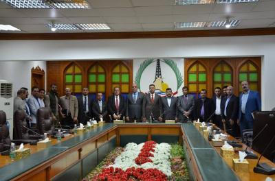 الاجودي: يحضر أجتماع المراجعة الأدارية لأجراءات مدققي فريق ادارة الجودة لديوان محافظة البصرة
