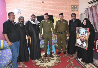 الرعاية الاجتماعية والمعنوية لأسر الشهداء في محافظة البصرة