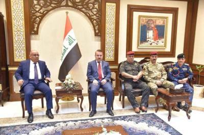 السيد وزير الداخلية يلتقي رئيس محكمة استنئاف البصرة ويوجه بالتعامل بحزم في تنفيذ مذكرات القبض