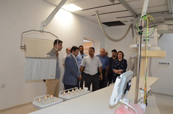 الدكتور ضرغام الاجودي يزور مشروع مستشفى النفط ويطلع على سير العمل في المشروع