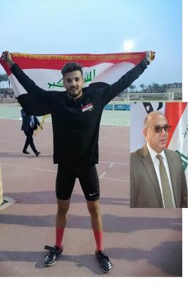 رئيس لجنة الشباب والرياضة بمجلس البصرة يهنئ بحصد العراق اولى الذهبيات بالبطولة العربية لألعاب القوى