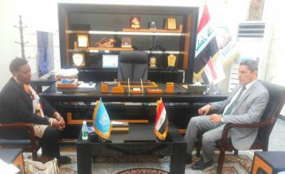 نائب محافظ البصرة يبحث مع مديرة اليونيسيف في العراق الواقع التربوي وتطوير مواهب اطفال المدارس
