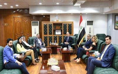 الحمداني يبحث مع وفد ثقافي سوري توسيع آفاق التعاون المشترك بين البلدين