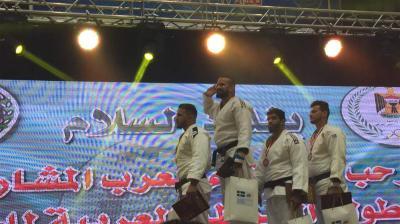 ذهبية وفضيتان للعراق في بطولة جودو الشرطة العربية