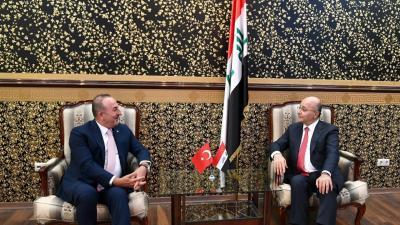 رئيس الجمهورية يستقبل وزير الخارجية التركي