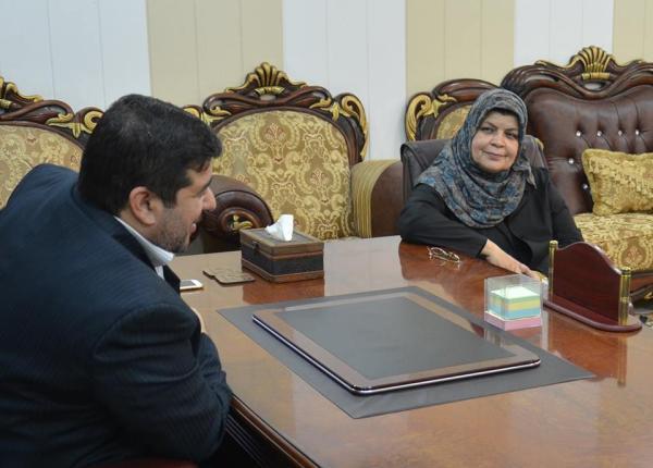 الاجودي : يلتقي بمدير والمشرف العام لمدارس الموهوبين في العراق