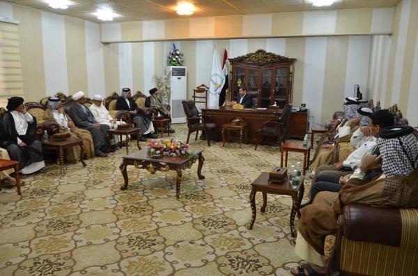الاجودي : يلتقي بشيوخ ووجهاء منطقة حي الجهاد