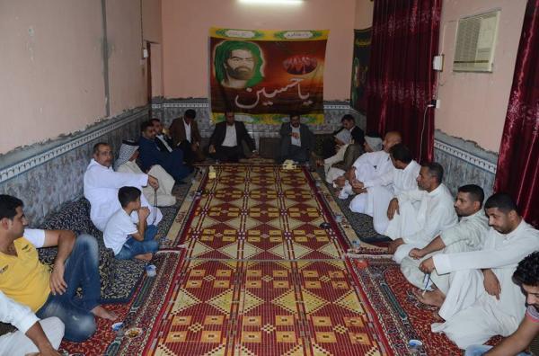 """نائب محافظ البصرة """" يلتقي بعدد من وجهاء منطقة الخاص التابعة لناحية عز الدين سليم ويستمع الى مشاكلهم ."""