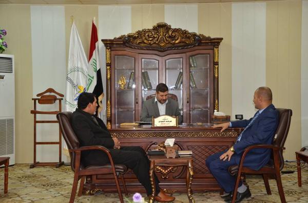 الاجودي : يلتقي رئيس أتحاد نقابات عمال البصرة