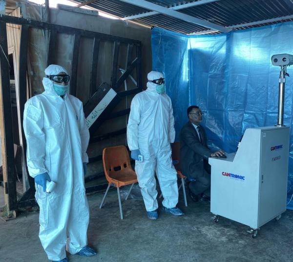 مدير منفذ الشلامچة يؤكد عدم تسجيل أي حالة إصابة بفيروس كورونا للوافدين عبر المنفذ .