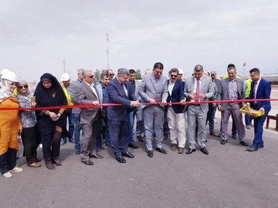 المدير العام لشركة موانئ العراق يفتتح مشروع طريق خدمي لميناء ام قصر الشمالي