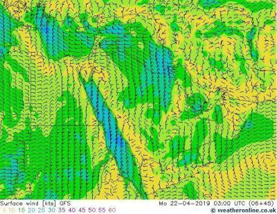 تطورات حالة الطقس يوم الاحد والايام القادمة والموجة الباردة