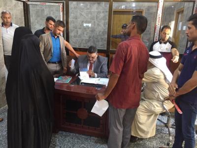 مكتب محافظ البصرة يواصل لقاءاته مع المواطنين