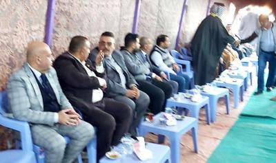 وفد مكتب محافظ البصرة يزور مجلس عزاء الشهيدين الصحفيّين
