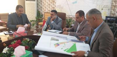 العيداني يشكل لجنة مختصة لمتابعة  نصب وتشغيل معملين للأسفلت في بلدية البصرة وقضاء شط العرب