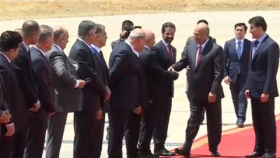 رئيس الجمهورية يصل الى أربيل