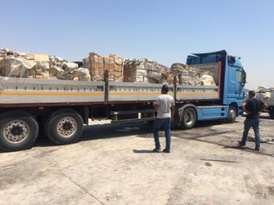 إتلاف شحنة متنوعة منتهية الصلاحية وتالفة في مطار بغداد الدولي